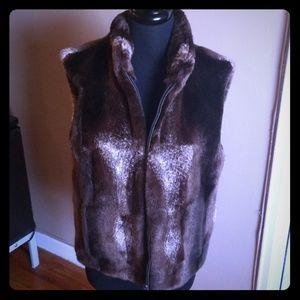 Jackets & Blazers - Faux fur reversible vest
